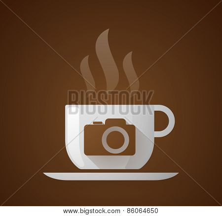 Coffee Cup With A Photo Camera