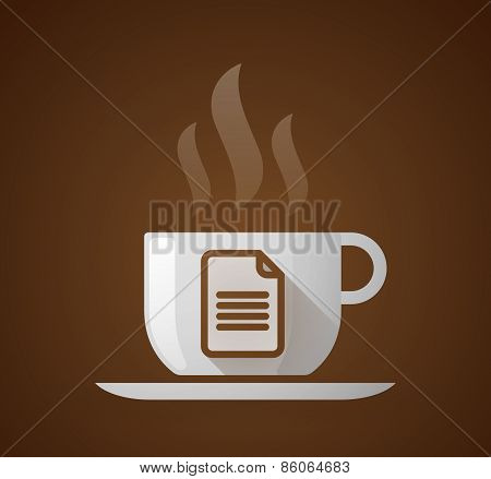 Coffee Cup With A Document