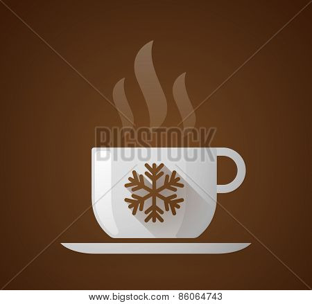 Coffee Cup With A Snow Flake