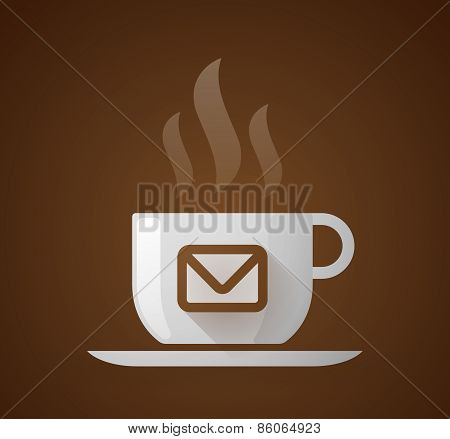 Coffee Cup With An Envelope