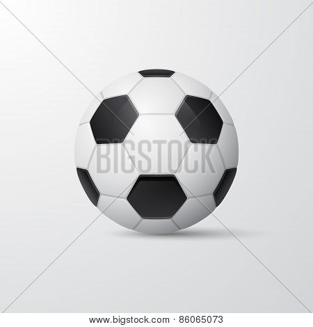 Traditional Style Soccer Ball. Vector Illustration.