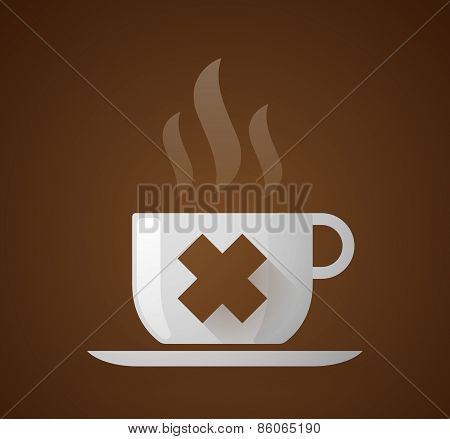 Coffee Cup With An Irritating Substance Sign
