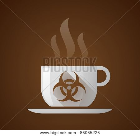 Coffee Cup With A Biohazard Sign