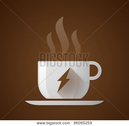 Coffee Cup With A Lightning
