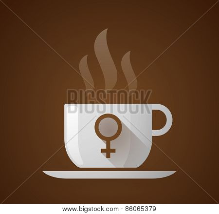 Coffee Cup With A Female Sign