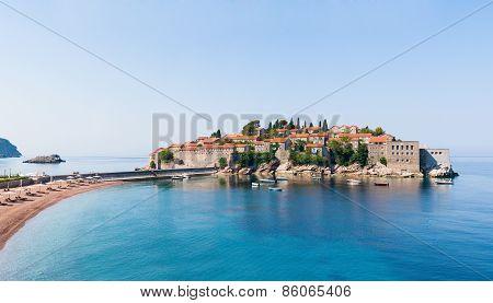 Sveti Stefan Island Panorama