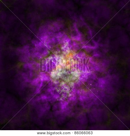Abstract Stars Nebula Generated Texture