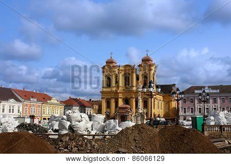 Union Square (unirii Square) In Timisoara, Romania