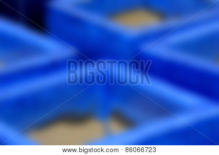 Blur Background Of Blue Pottery