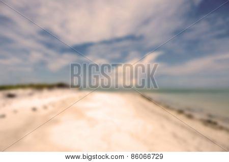 Blur Background Beautiful Florida Coastline