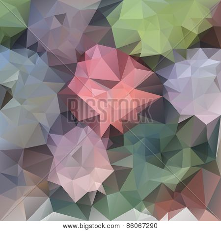 Vector Polygonal Background Pattern - Triangular Design In Pastel Sprin