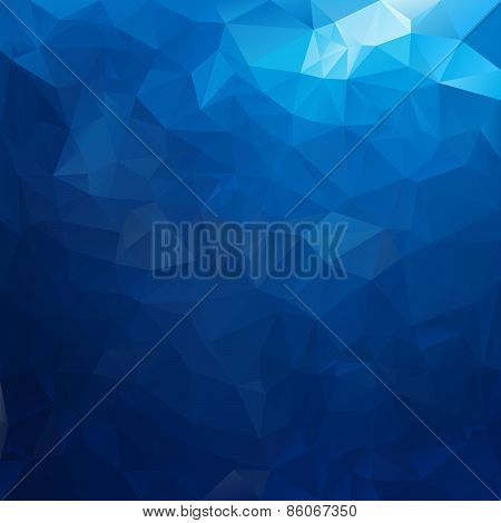 Vector Polygonal Background Pattern - Triangular Design In Sea Water Co