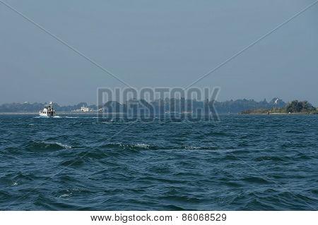 Ship track in Adreatic sea near Venice
