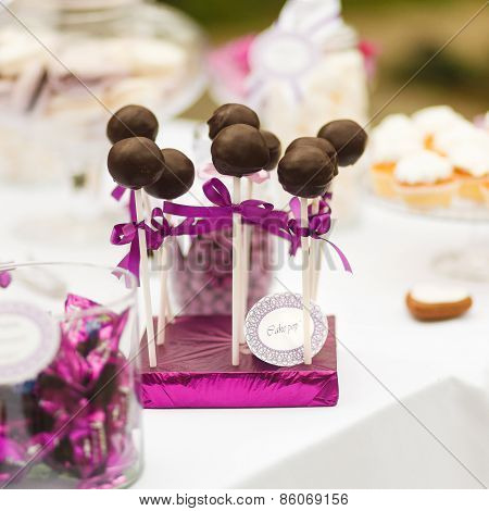 Served Festive Candy Bar - Chocolate Candies Lollipops