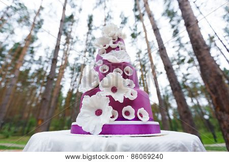 Grand Wedding Cake With Flowers