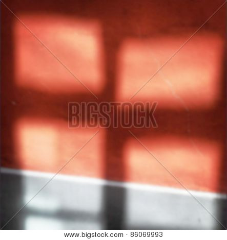 Defocused Red And Gray Window Reflections