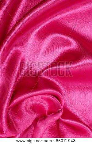 Smooth Elegant Pink Silk Or Satin As Wedding Background