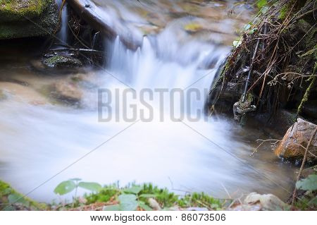 Brook waterfall closeup