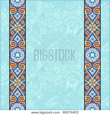 lace border stripe in ornate floral background
