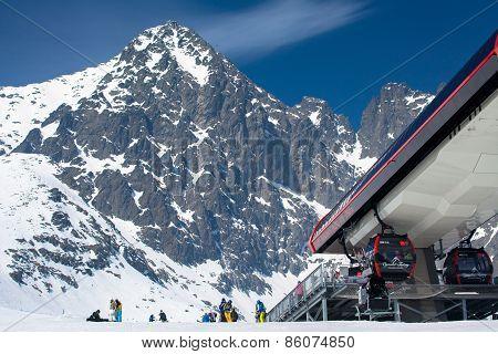 Modern Cableway At High Tatras, Slovakia