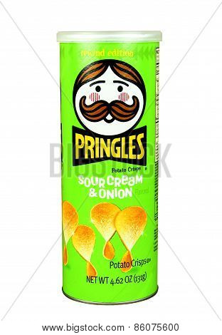 Pringles Sour Cream And Onion Potato Chips