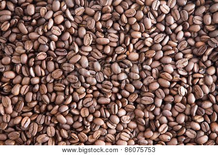 Background Texture Of Roasted Coffee Beans