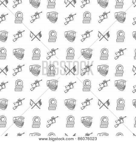 Monochrome vector background for paintball playground