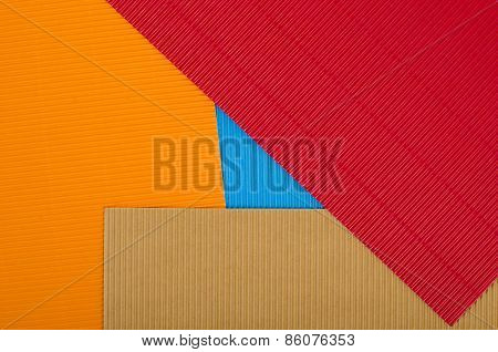 Corrugated Color Cardboard.