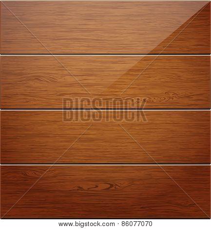 Wooden boards background. illustration.