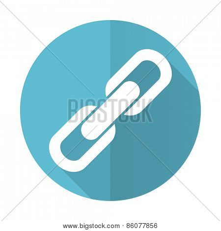 link blue flat icon chain sign