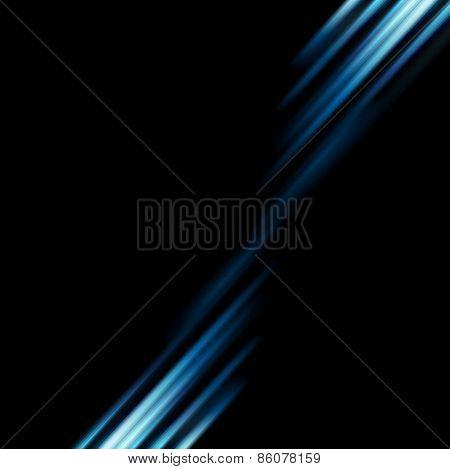 Conceptual dark blue stripes abstract background. Vector design