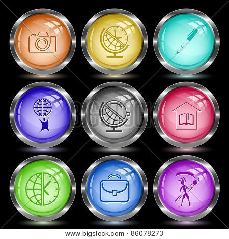 Education set. Internet button. Vector illustration.