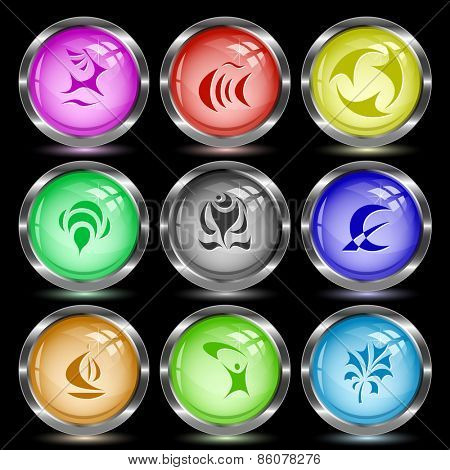 Abstract set. Internet button. Vector illustration.