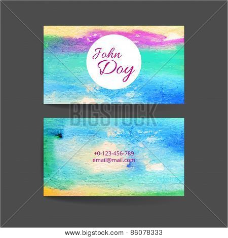 Set of two creative business card