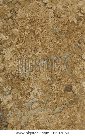 Surface Of The Travertine. Brown And Honey Yellow Shades.