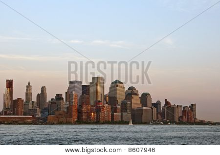 Sunset On Downtown Manhattan