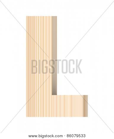 Letter from wooden alphabet set isolated over white.