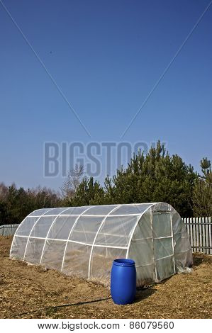 small PVC tunnel greenhouse