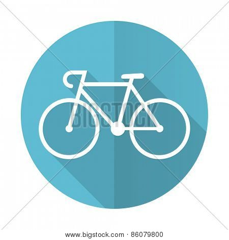 bicycle blue flat icon bike sign