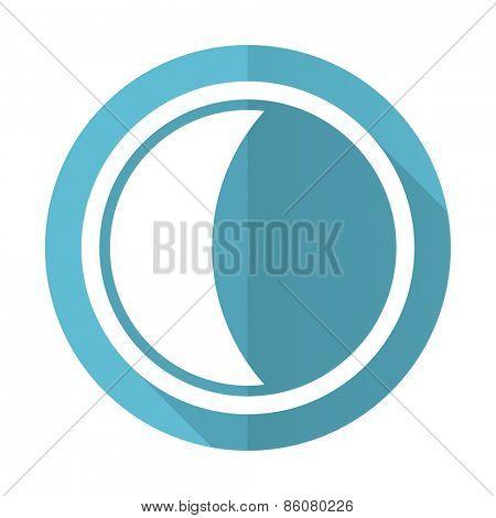 moon blue flat icon sleep sign