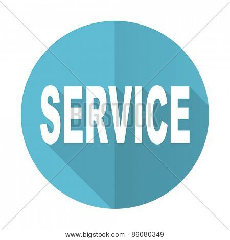 service blue flat icon