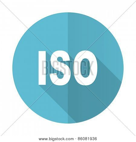 iso blue flat icon