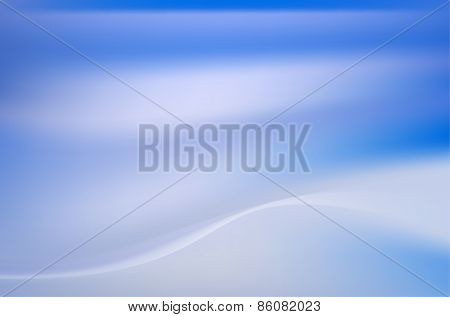 Heavenly Blue Azure Background With Soft Folds