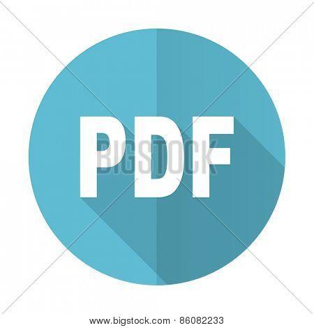 pdf blue flat icon