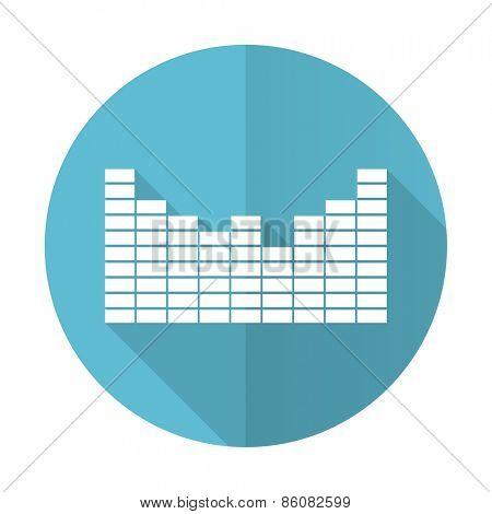 sound blue flat icon