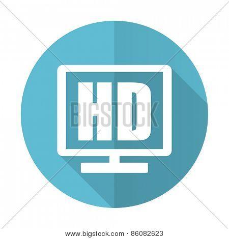 hd display blue flat icon