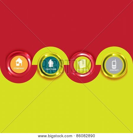 Colored Vector background with icons for the introduction of the company.