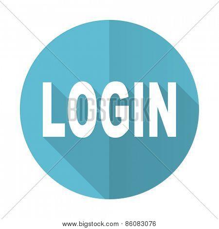 login blue flat icon