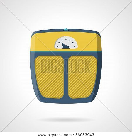 Flat vector icon for weigh scale