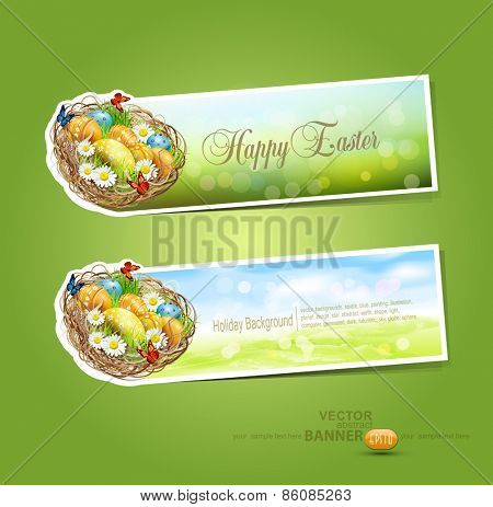 vector Easter stickers